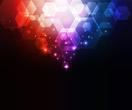 Glowing abstract background Stock Image