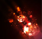 Glowing abstract background. With stars and spheres Stock Photography