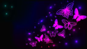 Glowing abstract background with butterfly. Glowing abstract background with purple butterfly on black Vector Illustration