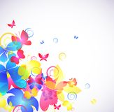 Glowing abstract background with butterfly Royalty Free Stock Images