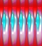 Glowing abstract background in red, white and blue. Stock Photo