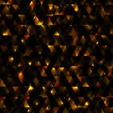 Glowing abstract background from triangles, technology and dynamic motion. Abstract background with geometric. Concept new technology and dynamic motion Stock Photography