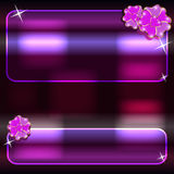 Glowing abstract backgrounds Royalty Free Stock Images