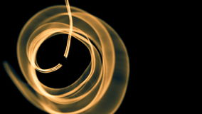 Glowing abstract curved blue and yellow lines - Light painted 4K video timelapse.  stock video