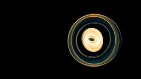 Glowing abstract curved blue and yellow lines - Light painted 4K video timelapse.  stock footage