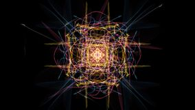 Glowing abstract dark background. Silk symmetry series royalty free illustration