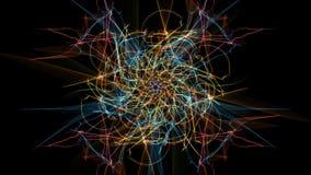 Glowing abstract dark background. Silk symmetry series stock illustration