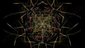 Glowing abstract dark background. Silk symmetry series vector illustration