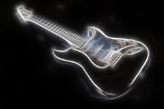 Glowing abstract guitar Royalty Free Stock Photos