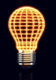 Glowing abstract light bulb Royalty Free Stock Photos