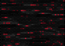 Glowing Abstract Lights. Abstract dotted background with red glowing dots stock illustration