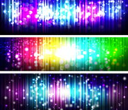 Glowing Abstract Lines banner Royalty Free Stock Images