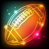 Glowing American Football Icon Illustration Royalty Free Stock Photography