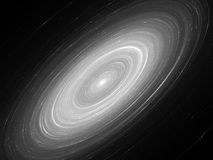 Glowing Andromeda galaxy black and white Stock Image
