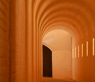 Glowing Arched Passage. Or hallway Stock Photo