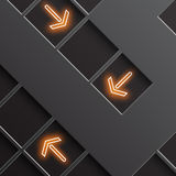 Glowing arrows indicate the direction Royalty Free Stock Photography