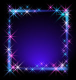 Glowing background. With stars for various design artwork Stock Image