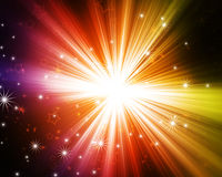 Glowing background. Glowing abstract background with stars stock illustration