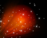 Glowing background. With abstract stars vector illustration