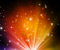 Glowing background. Abstract glowing background with stars stock illustration