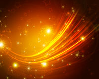 Glowing background. With abstract stars stock illustration