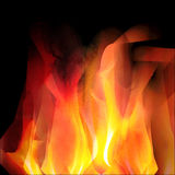 Glowing background with bright fire. On black. For the design of covers and business cards, web design Royalty Free Stock Photos