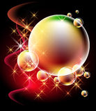 Glowing background with bubbles Royalty Free Stock Photos