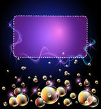 Glowing background with bubbles Stock Photo