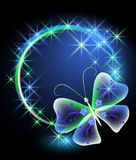 Glowing background with butterfly Stock Photo