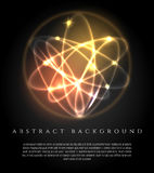 Glowing background with 3d lights ball. Glowing futuristic technology abstract geometric background with 3d lights ball vector illustration Stock Photos