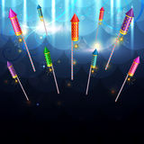 Glowing background of diwali Royalty Free Stock Photos