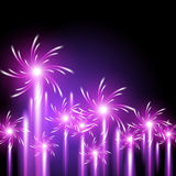 Glowing background with firework Stock Photography