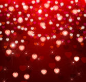 Glowing background with hearts. Background with hearts and sparkles Royalty Free Stock Photography