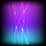 Glowing background with neon line vector Stock Image