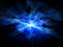 Glowing background with rays of light. On a blue Royalty Free Stock Photography