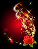 Glowing background with rose Royalty Free Stock Photo