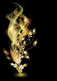 Glowing background with smoke Stock Images