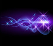 Glowing background. With smoke and stars Royalty Free Stock Images
