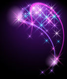 Glowing background with stars Royalty Free Stock Images