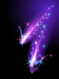 Glowing background with stars. Abstract glowing background with stars Royalty Free Stock Image