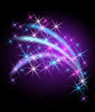 Glowing background with stars. For various design artwork Stock Image