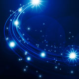 Glowing background with stars Royalty Free Stock Photos