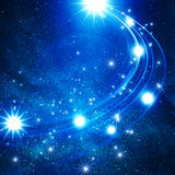Glowing background with stars Stock Images