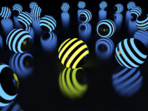 Glowing balls on a black background Royalty Free Stock Photography