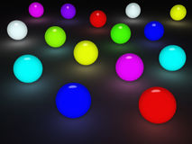 Glowing balls Royalty Free Stock Images