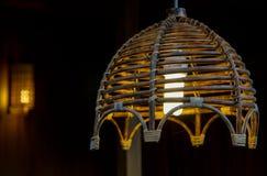Glowing Bamboo light Stock Image