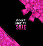 Glowing Banner Clearance for Black Friday Sales Royalty Free Stock Photo