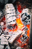 Glowing barbecue coals Stock Images