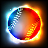 Glowing Baseball Illustration Royalty Free Stock Photography
