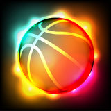 Glowing Basketball Illustration. A brightly colored glowing basketball illustration. Vector EPS 10 available. EPS contains transparencies and gradient mesh Stock Photos